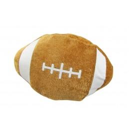 Ballon de rugby brun en peluche