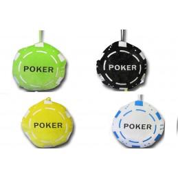 Jeton de poker en peluche existe en 4 coloris