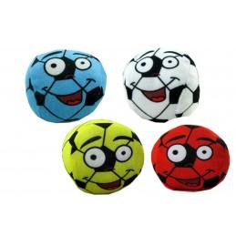Ballon de football en peluche avec imprimé visage existe en 4 coloris
