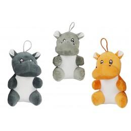 Peluche hippopotame assis existe en 3 coloris